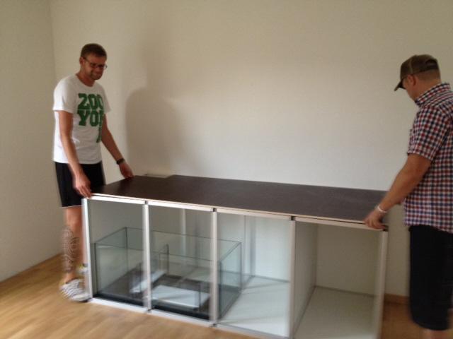 aquarienschrank 200 x 80 x 80cm selber bauen aluminiumstecksystem. Black Bedroom Furniture Sets. Home Design Ideas