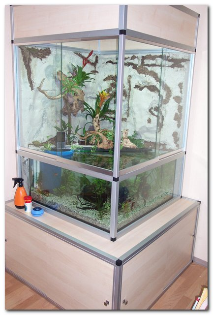 marinesystems paludarium 120x120x210cm mit schrank marinesystems. Black Bedroom Furniture Sets. Home Design Ideas